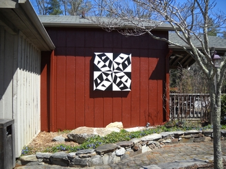 Quilt block at Flat Rock Playhouse